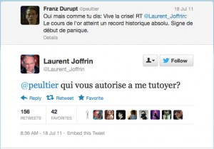 Laurent Joffrin tweet